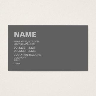 Modernes Grau Visitenkarten