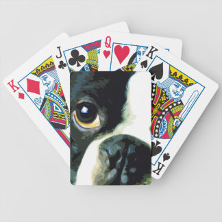 modernes großes Boston Terrier Bicycle Spielkarten