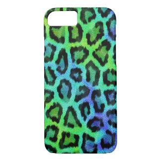 Modernes grünes und blaues Leopard-Muster iPhone 8/7 Hülle