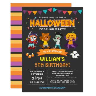 Modernes Halloween scherzt Kostüm-Party Einladung