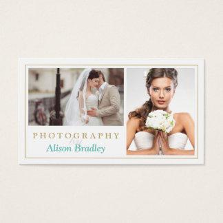 Modernes Hochzeits-Fotografie-Studio-elegantes Visitenkarten