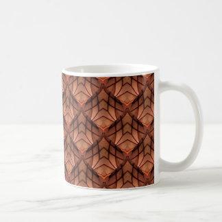 Modernes Kupfer farbiges Muster 034 Tasse