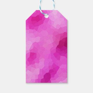 Modernes lila und rosa beflecktes Glas-Mosaik Geschenkanhänger
