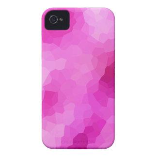 Modernes lila und rosa beflecktes Glas-Mosaik iPhone 4 Hülle