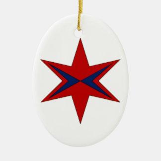 Modernes Logo Kapitän-Chicago Ovales Keramik Ornament
