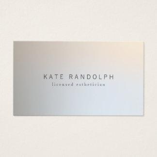 Modernes Minimalistic berufliches leuchtendes Visitenkarte
