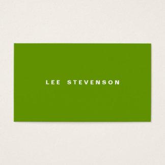Modernes Minimalistic Limones Grün Visitenkarten