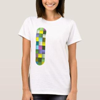 Modernes Mosaik gesponnenes Muster T-Shirt