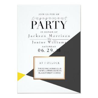 Modernes mutiges geometrisches Verlobungs-Party 12,7 X 17,8 Cm Einladungskarte