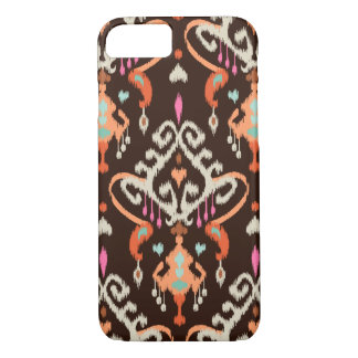 Modernes orange braunes girly ikat Stammes- Muster iPhone 8/7 Hülle