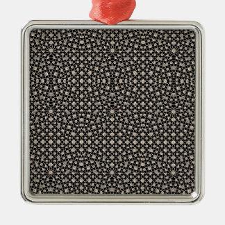 Modernes orientalisches Muster Silbernes Ornament