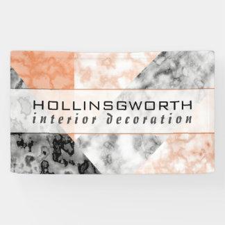 Modernes rosa Marmorcollagen-Muster-Geschäft Banner