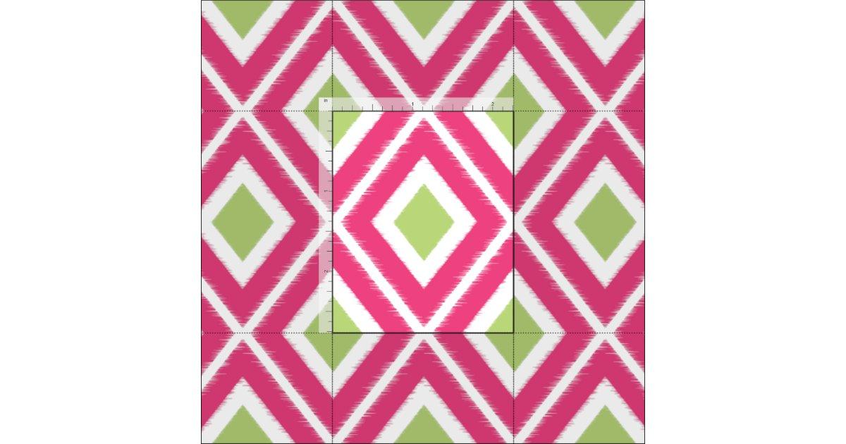modernes rosa und limones gr nes ikat muster stoff. Black Bedroom Furniture Sets. Home Design Ideas