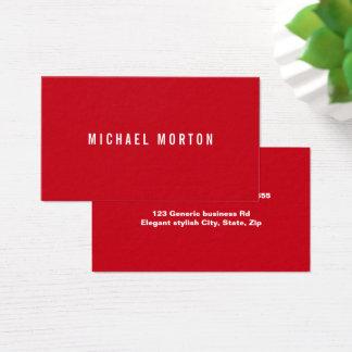 Modernes rotes einfaches generisches berufliches visitenkarte