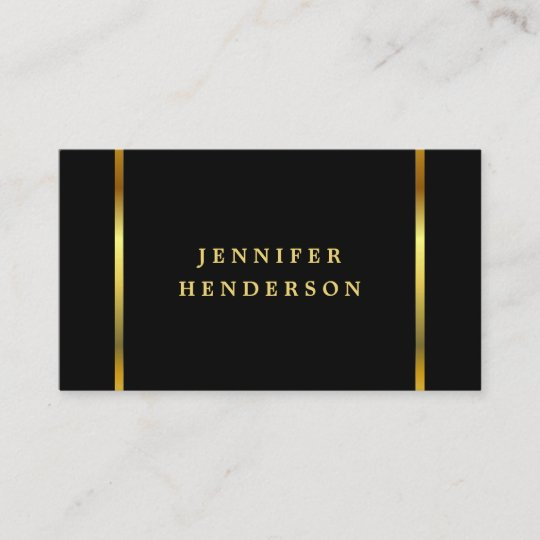 Modernes Stilvolles Chicschwarzes Und Gold Visitenkarte