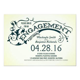 Modernes Typografie- u. Wirbels-Verlobungs-Party 12,7 X 17,8 Cm Einladungskarte