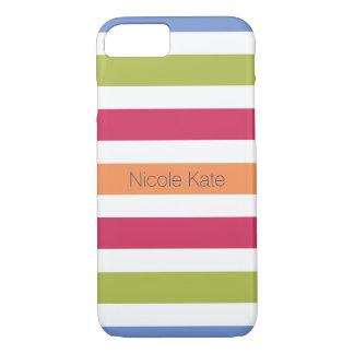 modernes unglaublich witzig mehrfarbiges Monogramm iPhone 7 Hülle