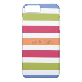 modernes unglaublich witzig mehrfarbiges Monogramm iPhone 8 Plus/7 Plus Hülle