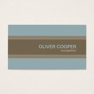 Modernes Visitenkarte Erdfarben Blau und Brown