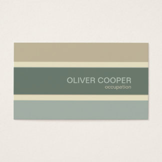 Modernes Visitenkarte Erdfarben Salbei-Moosgrün