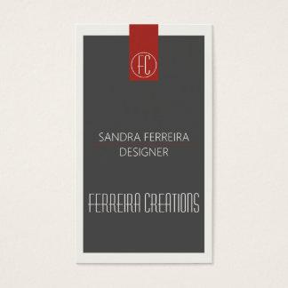 Modernes Visitenkarteschablone Rot und Grau Visitenkarte