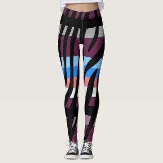 Modernes Zebra-Druck-Muster #2 Leggings