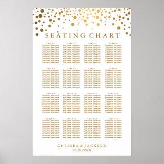 Modische Goldpunkte - Sitzplatz-Diagramm Poster