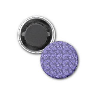 Modische Herzen blau Runder Magnet 3,2 Cm