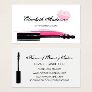 Modische rosa und schwarze visitenkarte