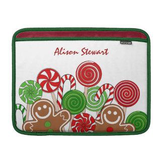 Modische rote Weihnachtslebkuchen MacBook Air Sleeve