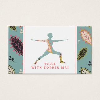 Modischer moderner Boho Yoga-Lehrer Visitenkarte