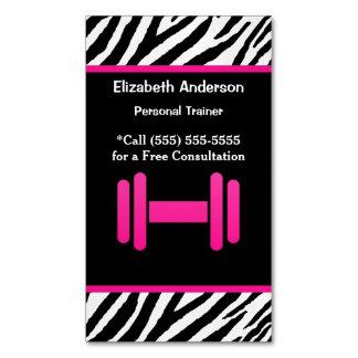 Modischer rosa und schwarzer Dumbbell-persönlicher Magnetische Visitenkarten