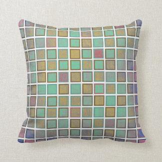 Modisches quadratisches Muster. Bunte Kissen