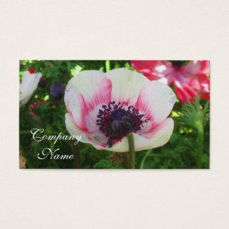 Mohnblumen-Blume Visitenkarten