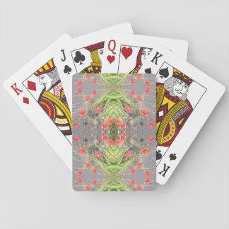 Mohnblumen-Blumen-Fraktal-Spielkarten Pokerkarte