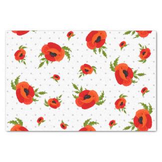 Mohnblumen-Blumen Seidenpapier