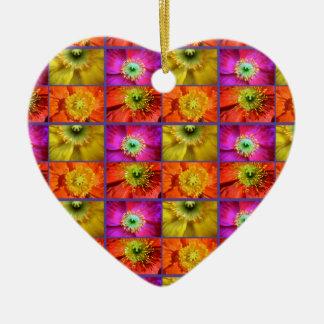 Mohnblumen-Liebe Keramik Herz-Ornament