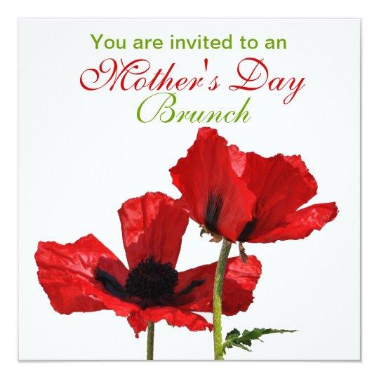 Mohnblüte - Einladung