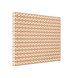 Mokka Diamant-Mandel Rahmen wickelten Leinwand ein Leinwand Drucke