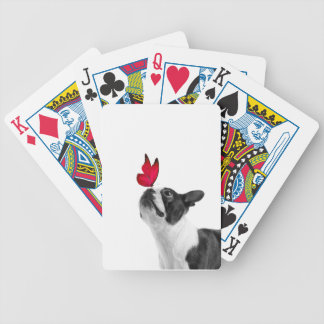Mollie Mäusekind Boston Terrier Bicycle Spielkarten