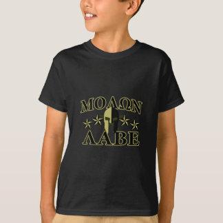 Molon Labe spartanische Sterne Sturzhelms 5 T-Shirt