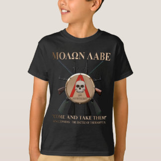Molon Labe - spartanisches Schild T-Shirt