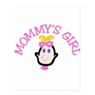 Mommys Mädchen Postkarten