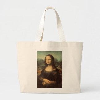 Mona Lisa durch Leonardo da Vinci Jumbo Stoffbeutel
