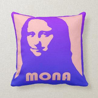 Mona Lisa im Pop-Kunstentwurf und -art Kissen