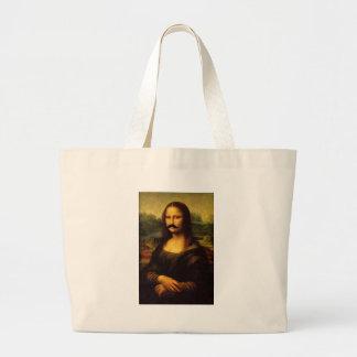 Mona Lisa mit dem Schnurrbart Jumbo Stoffbeutel