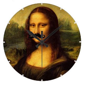 Mona Lisa mit dem Schnurrbart Wanduhren
