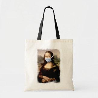 Mona Lisa mit Maske Da Vinci Spoofing die Künste Tragetasche
