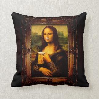 Mona Lisa - Mona Lisa Bier - lustiges Mona Kissen