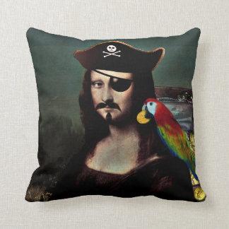 Mona Lisa Pirat mit dem Schnurrbart Kissen